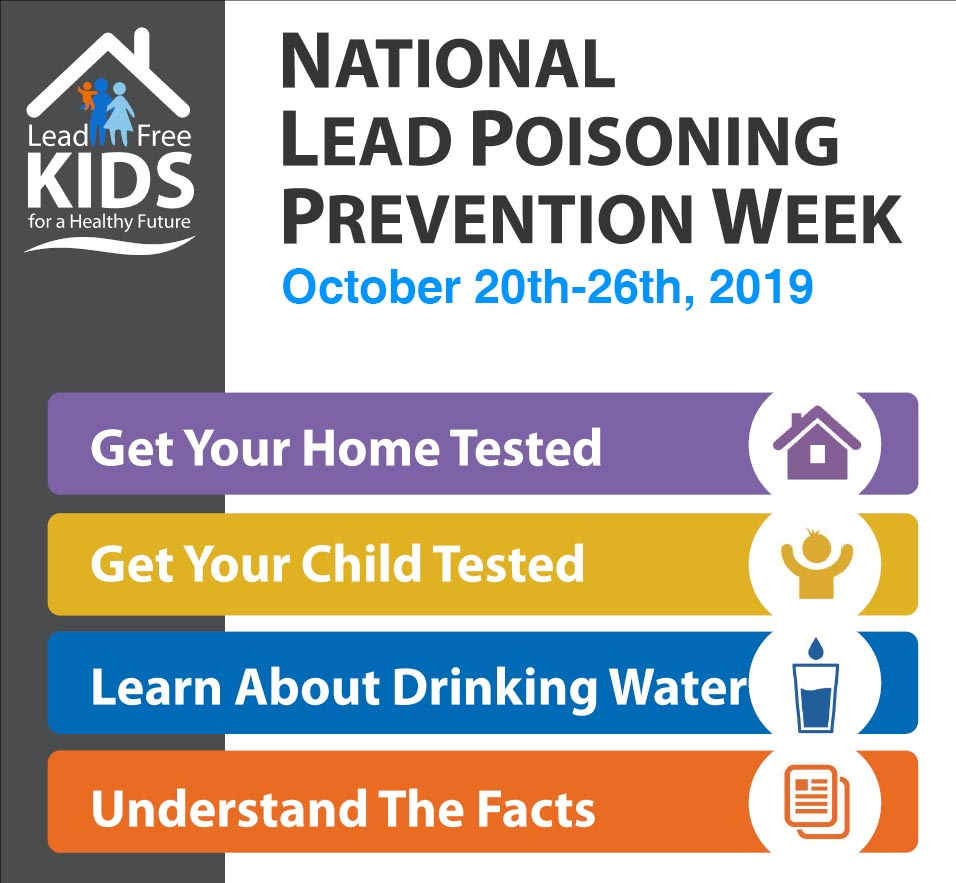 CDPH Lead Poisoning Prevention Week 2019